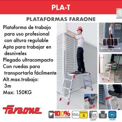 Plataforma profesional Faraone PLA-T