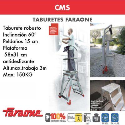 Taburetes de aluminio Faraone CMS