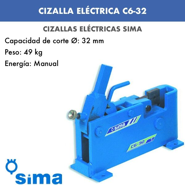Cizalla Eléctrica de Sima C6-32