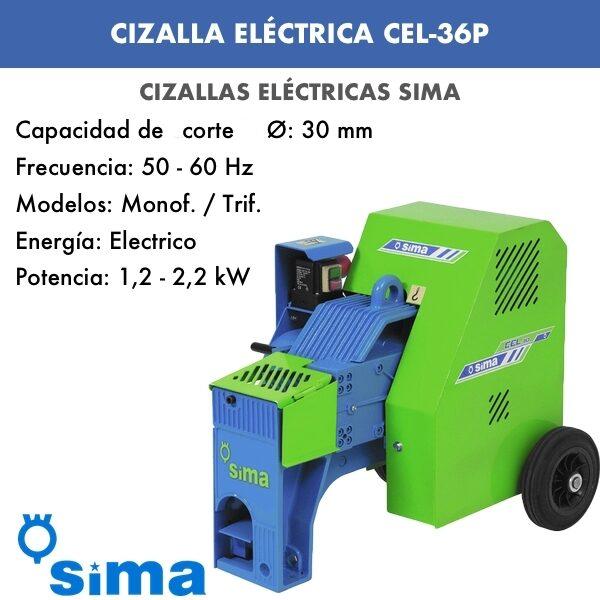 Cizalla Eléctrica de Sima CEL-36P monof.:trif.