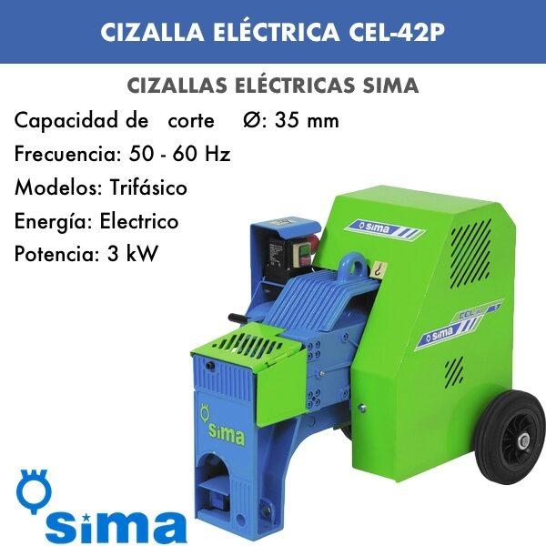 Cizalla Eléctrica de Sima CEL-42P trif.