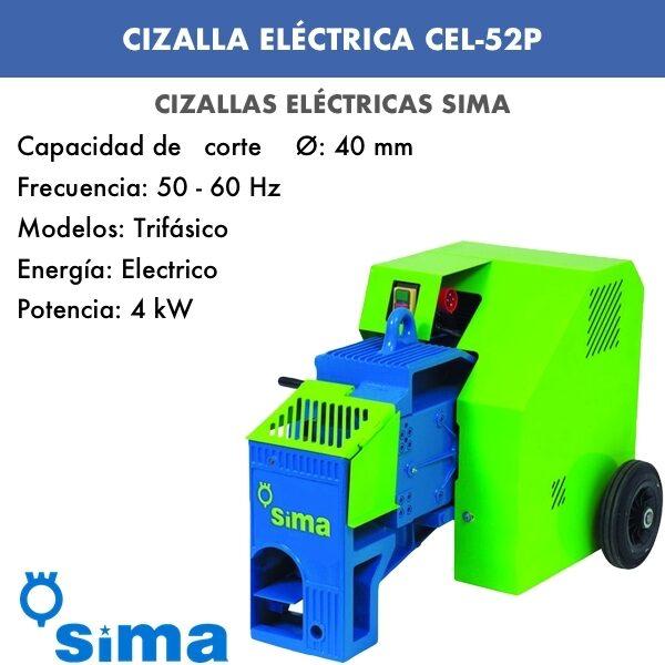 Cizalla Eléctrica de Sima CEL-52P trif.