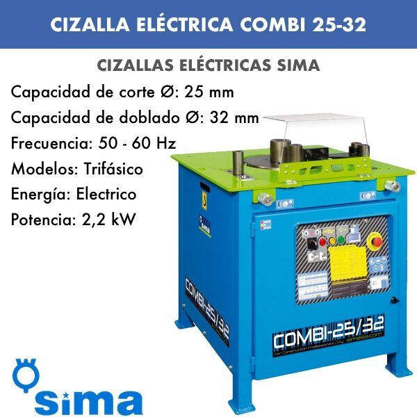 Cizalla Eléctrica de Sima COMBI 25-32 Monof.:Trif.