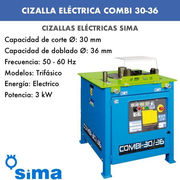 Cizalla Eléctrica de Sima COMBI 30-36 Trif.