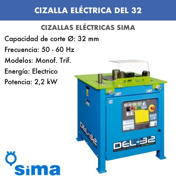 Cizalla Eléctrica de Sima DEL-32 2V Monof.