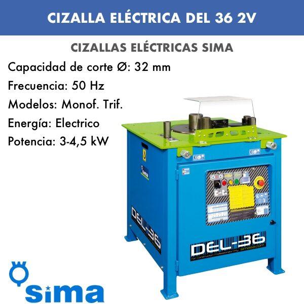 Cizalla Eléctrica de Sima DEL-36 2V Trif.
