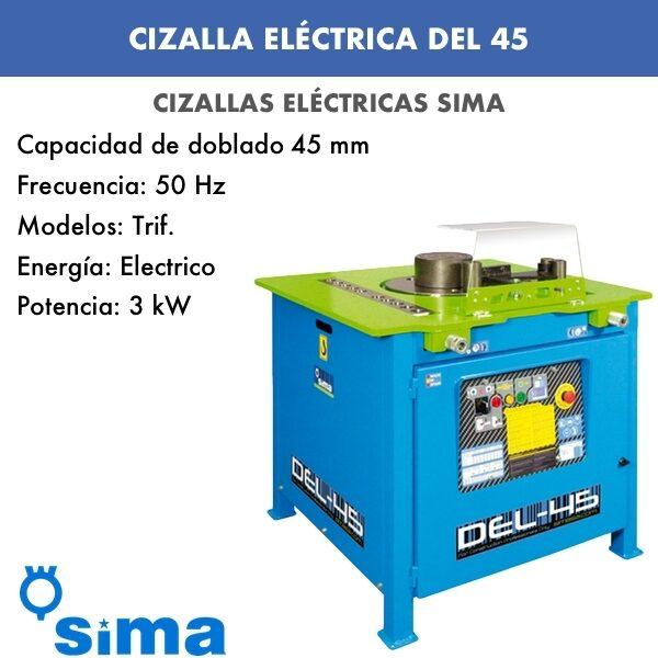 Cizalla Eléctrica de Sima DEL-45 Trif.