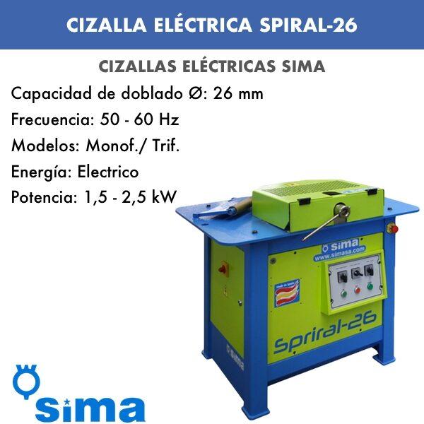 Cizalla Eléctrica de Sima SPIRAL-26 Monof.:Trif.