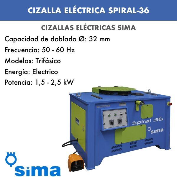 Cizalla Eléctrica de Sima SPIRAL-36 Trif.