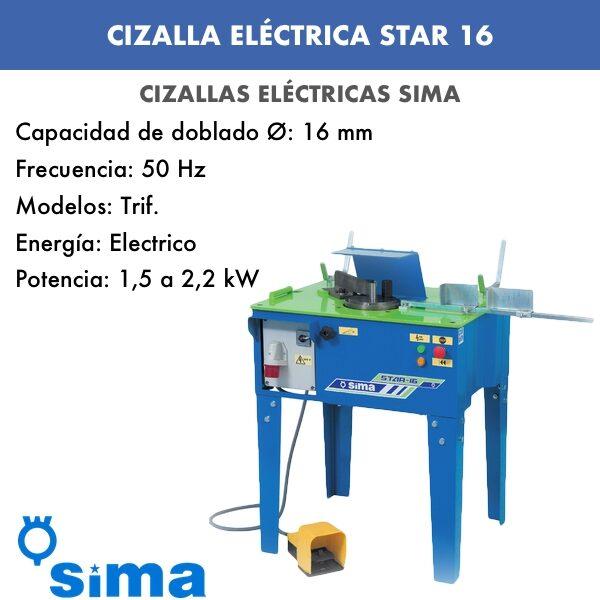 Cizalla Eléctrica de Sima STAR-16 Monof.:Trif.