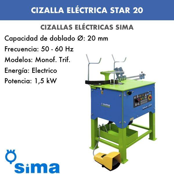 Cizalla Eléctrica de Sima STAR-20 Monof.:Trif.