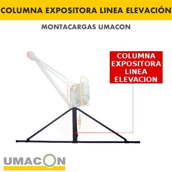 Columna Expositora Linea Elevación