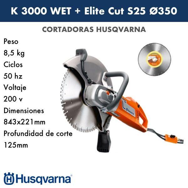 Cortadora HUSQVARNA K 3000