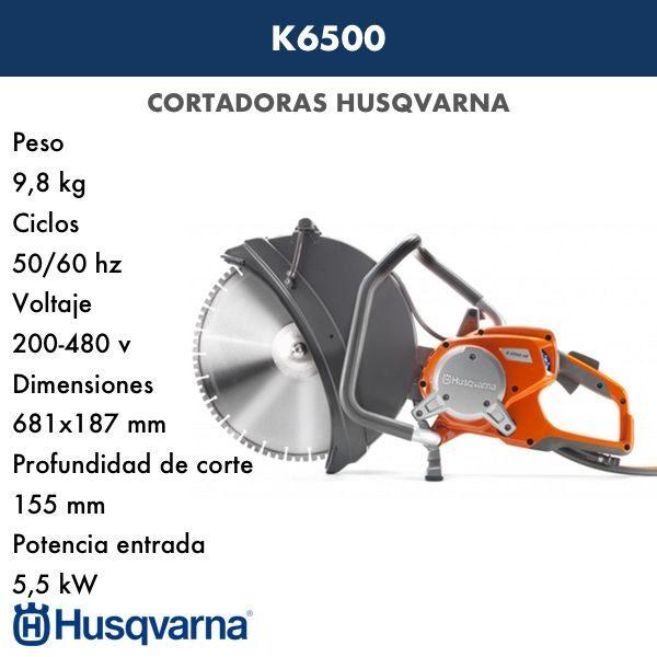 Cortadora HUSQVARNA K 6500