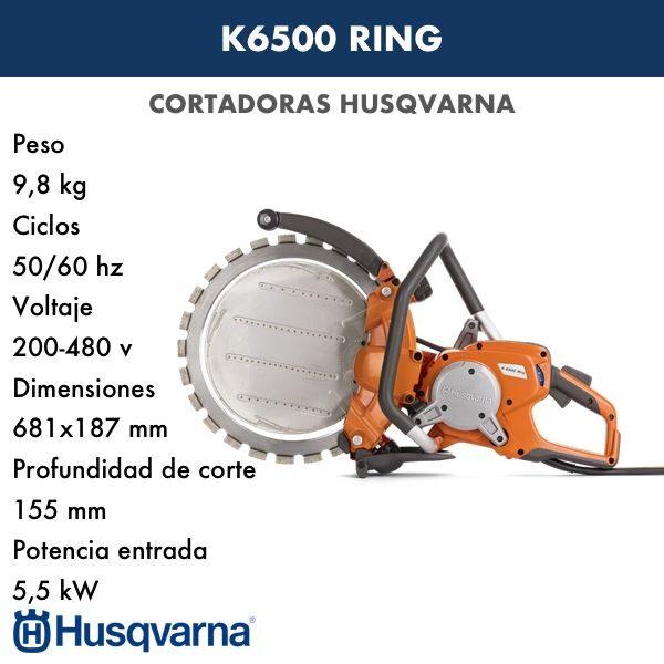 Cortadora HUSQVARNA K 6500 RING