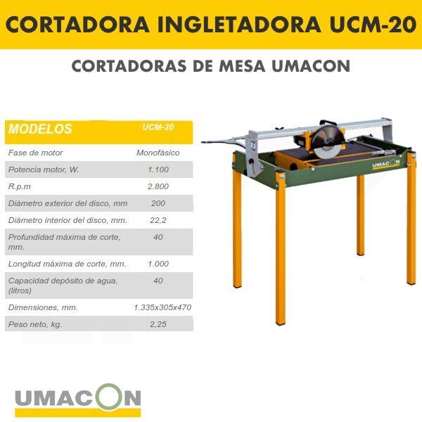 Cortadora Ingletadora UCM-20