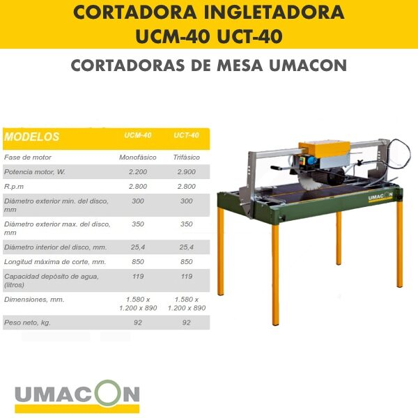 Cortadora Ingletadora UCM-40 : UCT-40