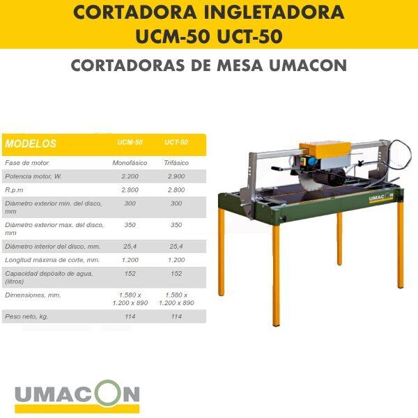 Cortadora Ingletadora UCM-50 : UCT-50