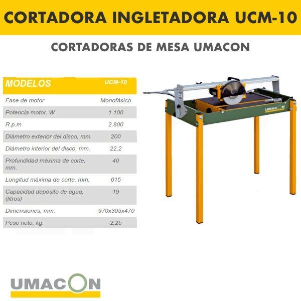 Cortadora Ingletadora Umacon UCM-10
