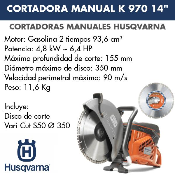 Cortadora K 970 14 + Vari Cut S50 Ø 350