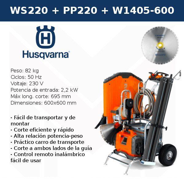 Cortadora de Muros HUSQVARNA WS 220