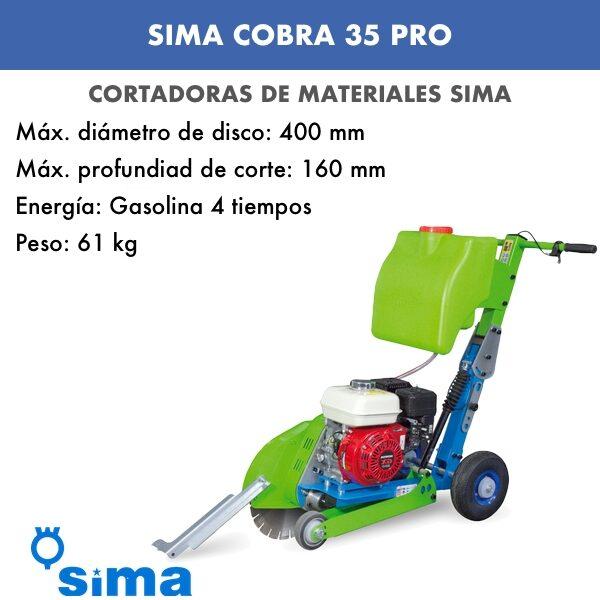 Cortadora de asfalto Cobra 35 Pro