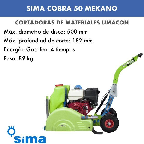 Cortadora de asfalto Cobra 50 Mekano