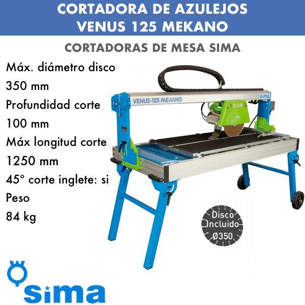 Cortadora de azulejos Sima VENUS 125 Mekano Intermaquinas