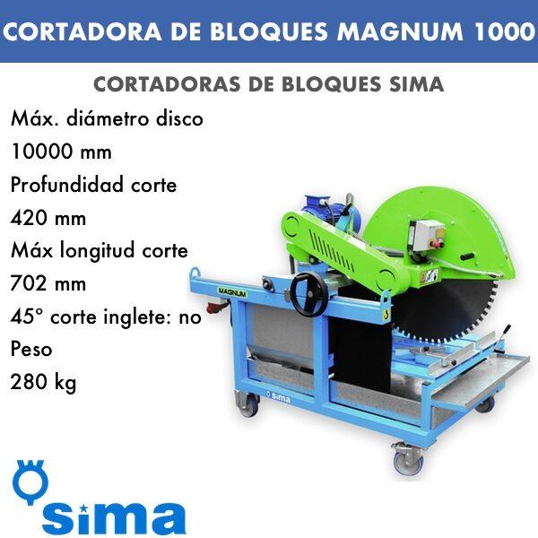 Cortadora de bloques MAGNUM 1000