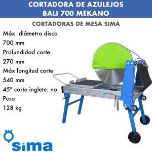 Cortadora de materiales BALI 700 Mekano