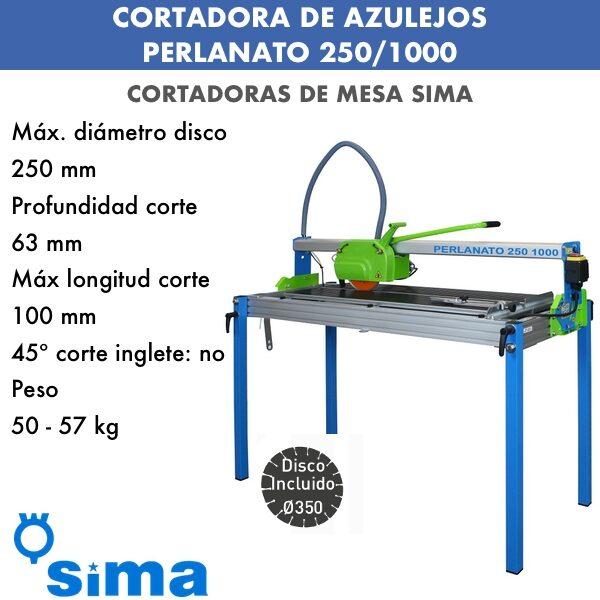 Cortadora de materiales PERLANATO 250-1000