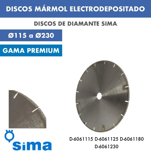 DISCOS MÁRMOL ELECTRODEPOSITADO