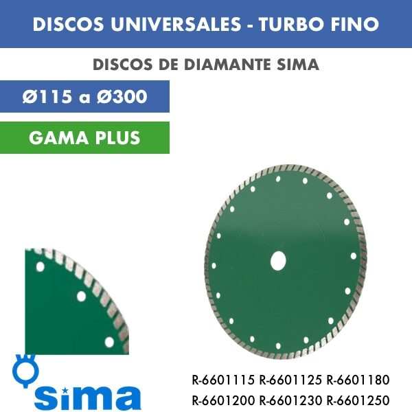 DISCOS UNIVERSALES - TURBO FINO