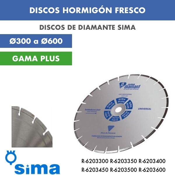 Disco de diamante Sima Hormigón Fresco Ø300 a Ø600