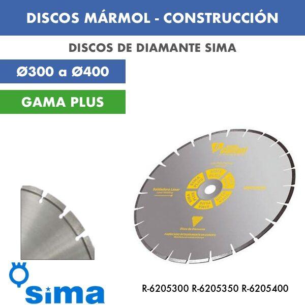 Disco de diamante Sima Mármol Construcción Ø300 a Ø400