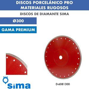 Discos de diamante Sima Porcelánico pro material rugoso Ø300