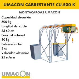 Elevador Cabrestante CU-500 K