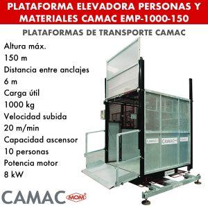 Elevadoras para personas y materiales CAMAC EPM-1000-150