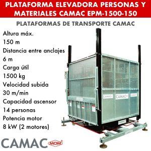 Elevadoras para personas y materiales CAMAC EPM-1500-150