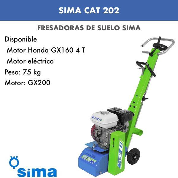 Fresadora Cat 202 motor gasolina HONDA GX160