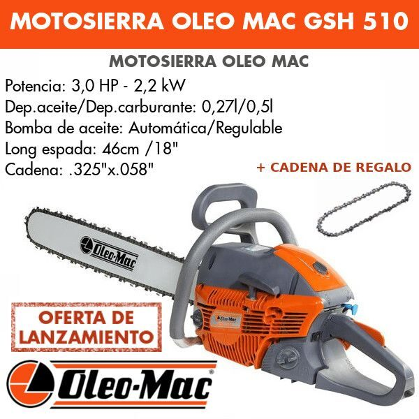 """Motosierra Oleo Mac GSH 510 18"""""""