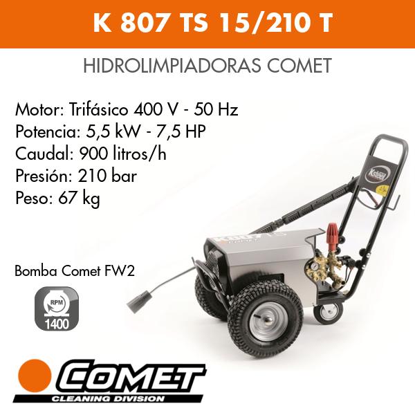 Hidrolimpiadora Comet K 807 TS 15-210 T