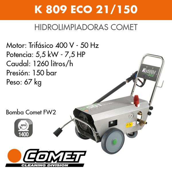 Hidrolimpiadora Comet K 809 ECO 21-150
