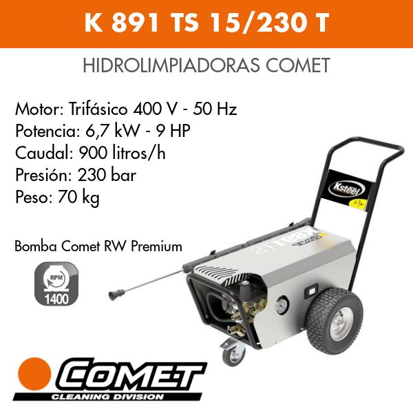 Hidrolimpiadora Comet K 891 TS 15-230 T