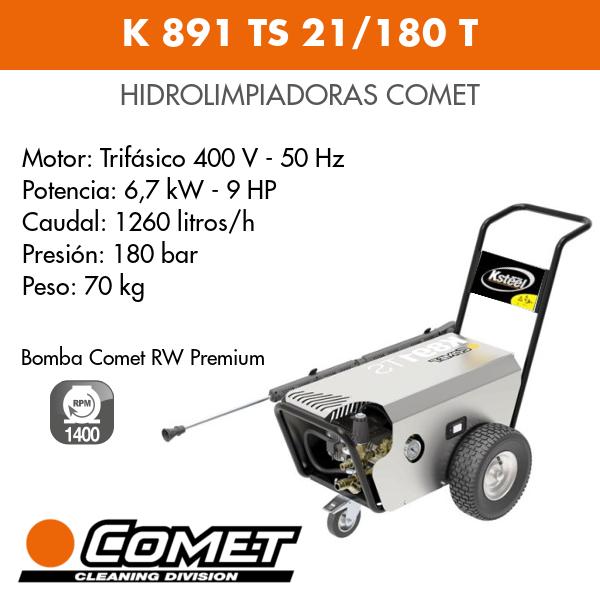 Hidrolimpiadora Comet - K 891 TS 21-180 T