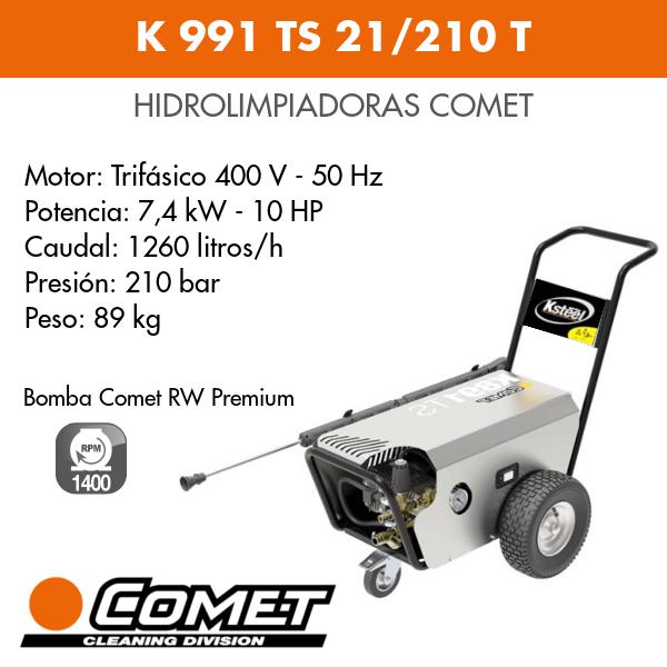 Hidrolimpiadora Comet K 991 TS 21-210 T