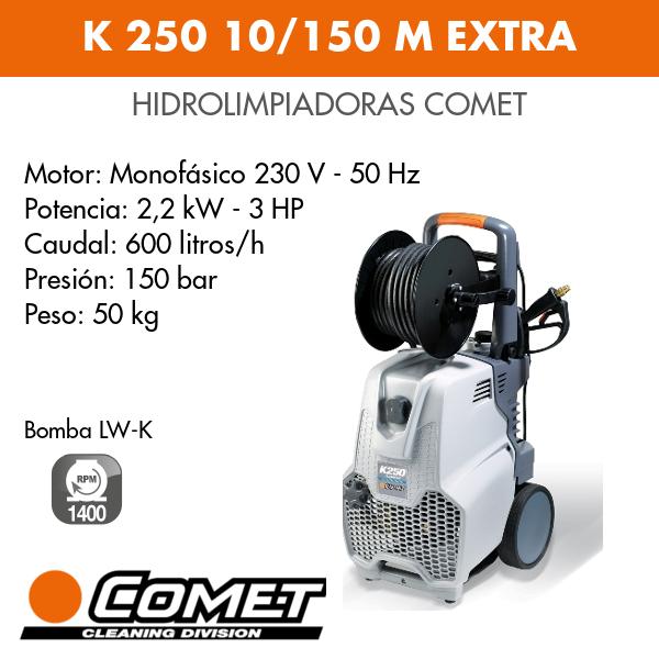 Hidrolimpiadoras Comet - K 250 10-150 M EXTRA