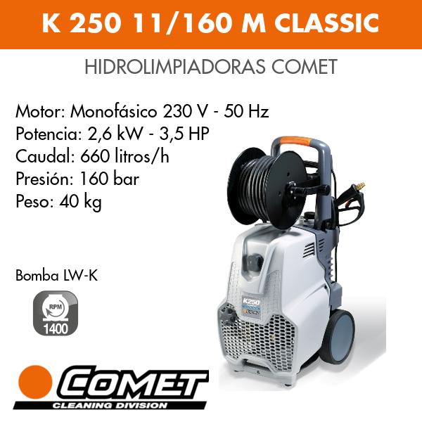 Hidrolimpiadoras Comet - K 250 11-160 M CLASSIC
