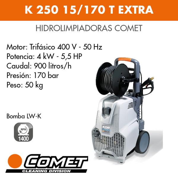 Hidrolimpiadoras Comet - K 250 15-170 T EXTRA