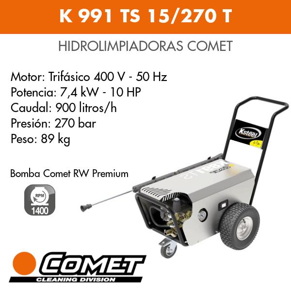Hidrolimpiadoras Comet K 991 TS 15-270 T